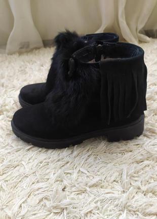 Ботинки зимние замшевые 37 размер