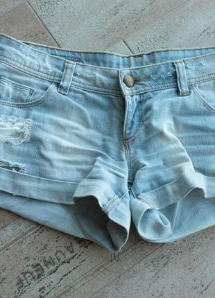 Джинсовые шорты от tally weijl
