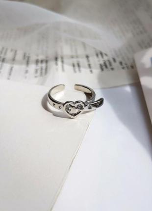 Оригинальное посеребренное кольцо ремень сердце / большая распродажа!