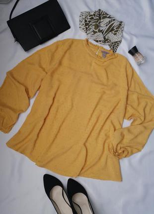 Легка красива блузка великого розміру батал вільного крою