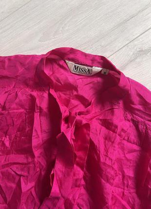 Шелковая блуза,малиновпя шелковая блуза