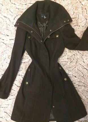 Теплое шерстяное пальто zara!