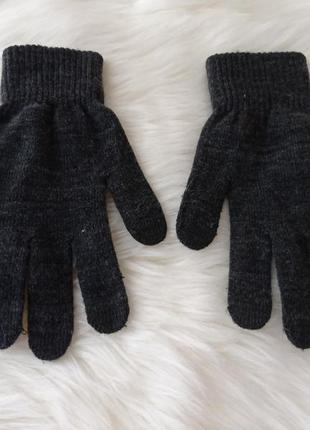 Темно серые перчатки