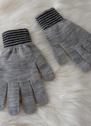 Светло серые серые перчатки