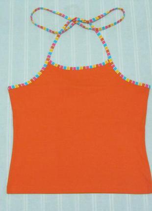 Летняя майка топ gina benotti размер xl оранжевый цвет