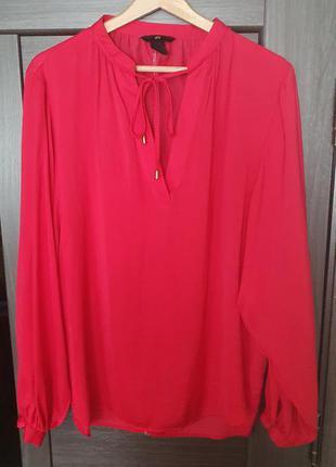 Кораловая блуза, кофта