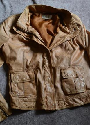 Lucky brand крутая кожаная куртка