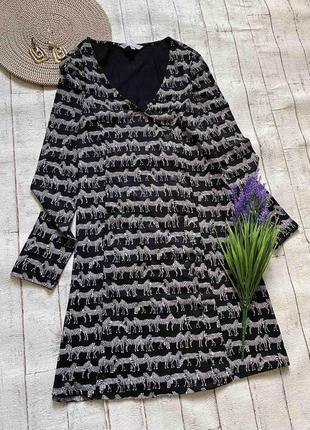Стильное платье в животный принт