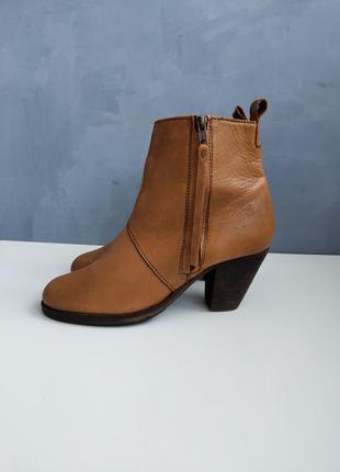 Женские кожаные рыжие ботинки челси dune london размер 40