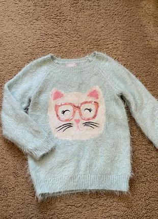 Тёплый свитерок с кошкой