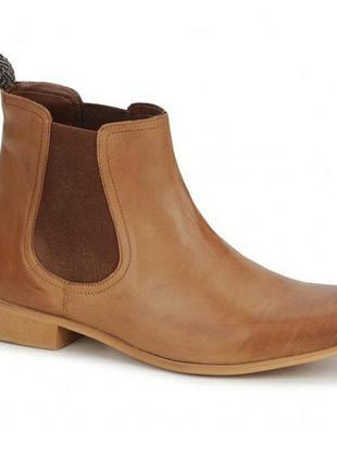 Женские кожаные ботинки полусапоги челси ravel размер 40