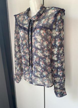 Блуза рубашка цветочный принт h&m