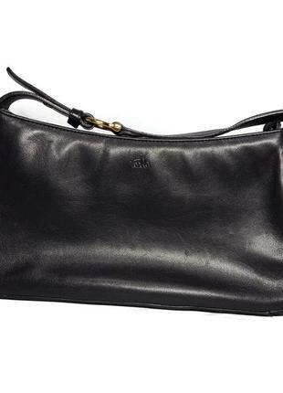 Шкіряна сумочка багет tula  якісна шкіра довга ручка  вмістка  стан ідеальний