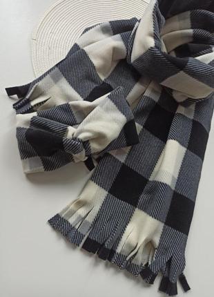 Набір пов'язка з шарфом теплий повязка+шарф