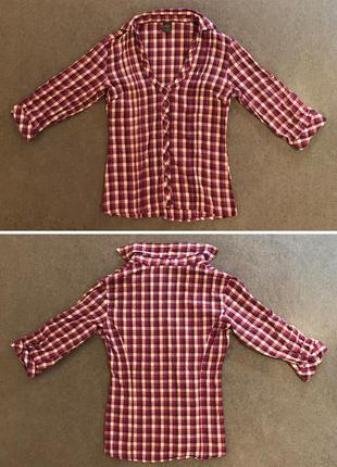 Рубашка в клеточку.