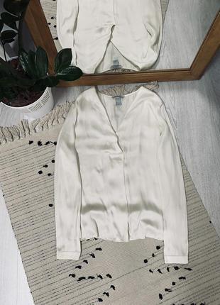 Атласна блуза від h&m🌿
