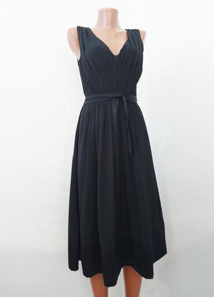 Черное нарядное платье /шифон