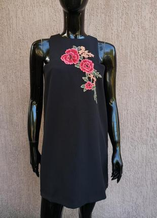 Сукня сарафан короткое платье с вышивкой boohoo