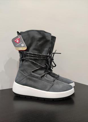 Зимние сапоги,чоботи  ecco оригинал  ботинки