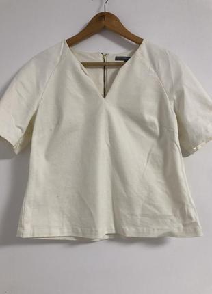 Фактурная плотная нарядная блуза топ рубашка футболка