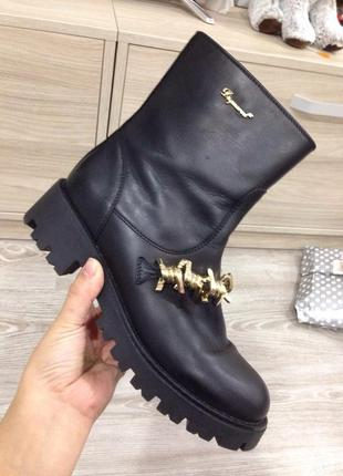 Итальянские кожаные ботинки