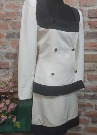 Винтажный костюм из шелка чесуча от claude  montana