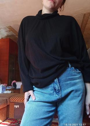 Кофта, пуловер в рубчик. ангора
