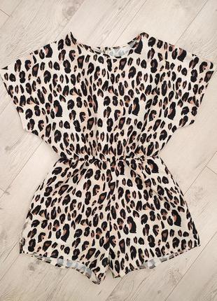 Леопардовий ромпер комбінезон
