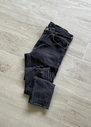 Джинсы h&m серые джинсы h&m зауженные джинсы