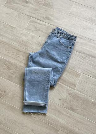 Джинсы мом mom fit голубите джинсы зауженные джинсы