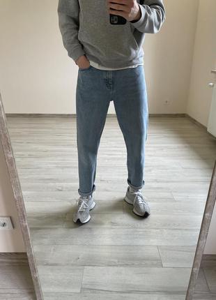 Джинсы мом зауженные джинсы