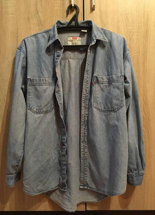 Винтажная джинсовая рубашка levi's оригинал