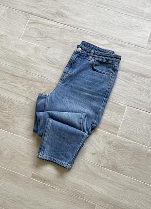 Джинсы мом mom fit голубые джинсы тапёры
