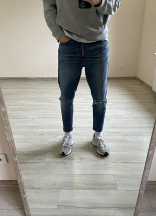 Зауженные джинсы levi's джинсы мом mom fit