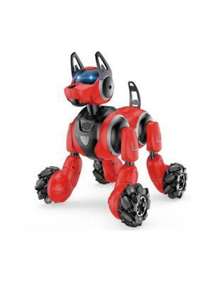 Интерактивная трюковая собака робот stunt dog с пультом и браслетом управления 800 а