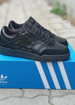 Мужские зимние adidas drop step кожаные.черные