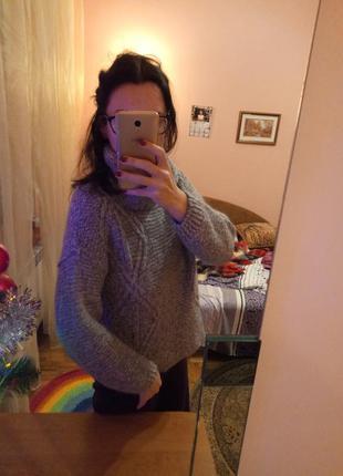 Теплый свитер крупная вязка