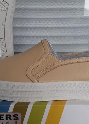 Skechers новый оригинал кожаные слипоны туфли размер 39