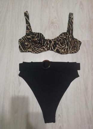 Купальник раздельный леопардовый
