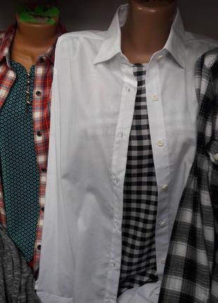 Белая рубашка базовая унисекс