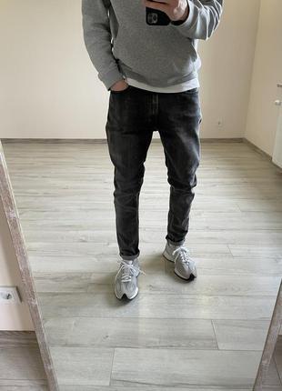 Серые штаны zara зауженные джинсы штаны zara