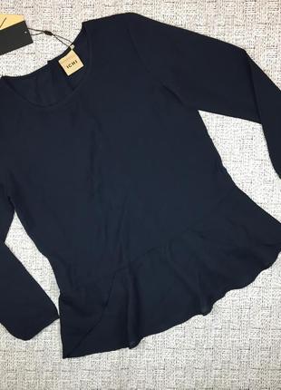 Нарядная блузка с воланом, ichi, дания, s, пуговицы на спине,
