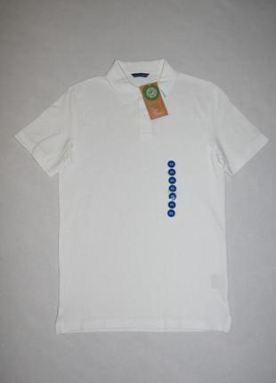 Футболка белая мужская поло c&a германия размер xs