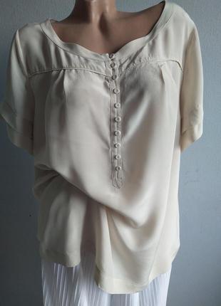 Базовая шелковая блуза, батал autograph essentials