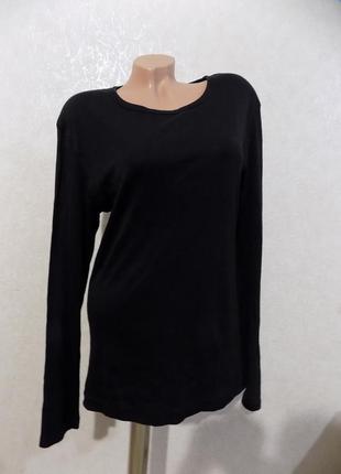 Кофта джемпер удлиненный пуловер черный фирменный h&m размер 50-52