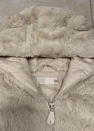 Меховая жилетка с капюшоном медведь