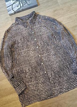 Рубашка блуза натуральный состав 100% вискоза