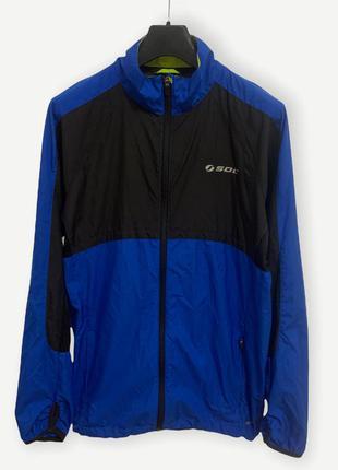 Вітровка ветровка куртка для бега дождевик синя everest soc