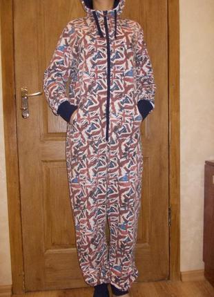 Пижама слип человечек комбинезон ромпер р. s рост 165-175см