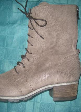 Ботинки женские кожаные, нубук, демисезонные, размер 41, peperosa